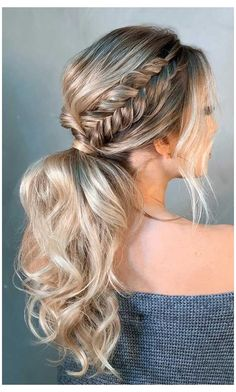 Prom Ponytail Hairstyles, Formal Hairstyles For Long Hair, Long Hair Ponytail, Prom Hair Updo, Dance Hairstyles, Homecoming Hairstyles, Wedding Hairstyles, Bridesmaid Hair Ponytail, Low Pony Hairstyles