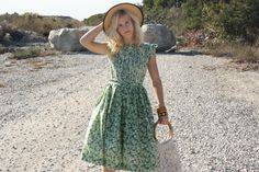 Vintage 50s Dress/ 1950s Cotton Dress/ Green by WhenDecadesCollide,  Vintage bridesmaid inspiration