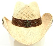 Women's Bullhide Hat Co. Straw Cowboy Hat Pinch Front Style Size Small Summer  | eBay