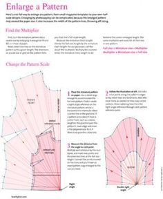 "Download:"" How To Enlarge a Pattern""...from ""Threads Magazine"""