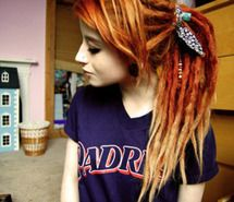 alternative, dreads, dyed hair, gauges, girl (Full Size)