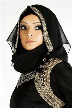 Dubai style hijab
