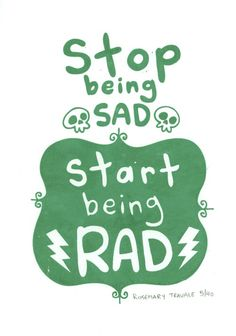 Start Being Rad Limited Edition Art Screenprint (Gocco) . $10.00, via Etsy.
