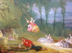 painting young man and woman on a swing | Fragonard painted two versions ofThe Swing, the intimate painting in ...