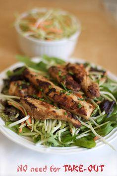 Homemade oriental chinese chicken strip recipe.