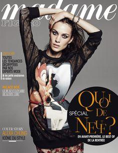Alexa Chung est en cover de Madame Figaro du 23 août 2013 avec un spécial Quoi de neuf?