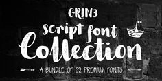 GRIN3 Script Font Collection « MyFonts
