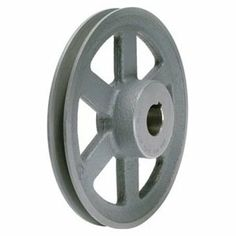 V-Belt Pulley, 10.25 In OD, 1 In Bore, 1GRV by Tb Wood'S. $81.35. V-Belt Pulley, Fixed Bore, Bore Dia. 1 In., Fits Shaft Dia. 1 In., Outside Dia. 10.25 In., 1 Groove, Arm Construction, 3L Belt Pitch Dia. 9.66 In., 4L, A, or AX Belt Pitch Dia. 10 In., Pitch Dependant on Belt Selection, 1/4 x 1/8 In. Keyway, Standard Setscrew, Gray Color, Iron Material, For Use With 3L, 4L, A or AX Type V-belts Fixed-Bore Light-Duty Cast-Iron SheavesEfficient and lightweight Standard keyway wit...