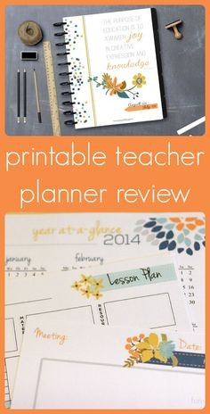Review of a teacher planner that you can print out and assemble however you like! Includes a GIVEAWAY for one reader!