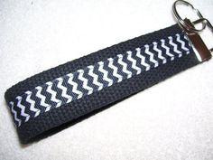KEY FOBWrist Key ChainBlack and White by PinkPinsandNeedles, $6.00