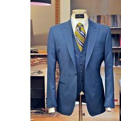 Costume 3 pièces bleu Scabal Super 100's