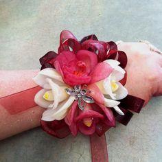 Miniature Cymbidium Orchid wrist corsage www.bloomboxonline.com