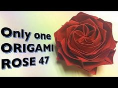 Only one origami rose 47 - YouTube