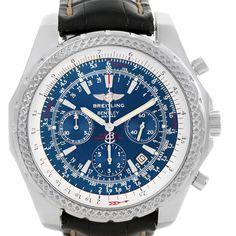 Breitling Bentley Motors Chronograph Blue Dial Mens Watch A25362