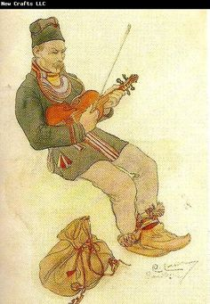 "Carl Larsson lappgubbe med fiol ""Lapp with Violin"""