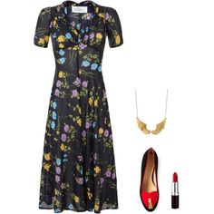 """Floral Glam"" by tara-starlet on Polyvore"
