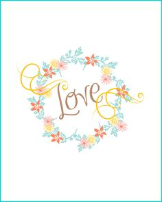 "Valentine ""Love"" Printable | CreativeCainCabin.com"