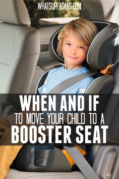 It's so important to understand car seat safety. And one of the biggest things all parents need to know is when and if to move a child to a booster seat. When did you move your child to a booster seat? Thoughts on this post?