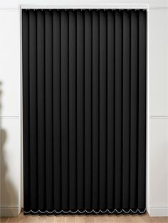 Sevilla Blackout Tranquility Black Vertical Blind from Blinds Faux Wood Blinds, Bamboo Blinds, Magnetic Blinds, Black Blinds, Budget Blinds, Types Of Curtains, Outdoor Blinds, House Blinds, Fabric Blinds