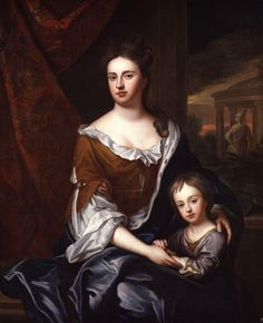 """Queen Anne and William, Duke of Gloucester"" by the Studio of Sir Godfrey Kneller"