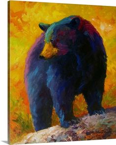 Great Big Canvas Checking The Smorg by Marion Rose Painting Print on Wrapped Canvas Format: Black Framed Print, Size: H x W x D Bear Paintings, Colorful Paintings, Contemporary Paintings, Painting Prints, Art Prints, Rose Paintings, Acrylic Paintings, Artist Canvas, Canvas Art
