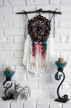Handmade Rainbow Dream Catcher https://www.etsy.com/listing/245308342/dream-catcher-crochet-dream-catcher