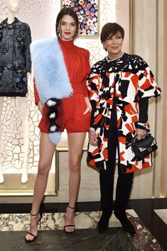 Kris Jenner Fur Coat - Kris Jenner cut a vibrant figure in a colorful geometric-patterned fur coat while attending the Palazzo Fendi and Zuma…