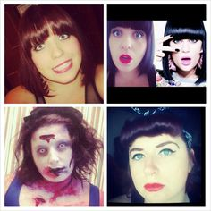 This is my entry for the waverley scholarship contest. All four hair and makeup where done by me. One burlesque look, one style, one jessie j lookalike and one zombie. Jessie J, Beauty Awards, Look Alike, Burlesque, Makeup Looks, Hair Makeup, Halloween Face Makeup, Hair Beauty, Style