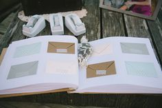Wood Engraved Guest Book/Advice Book by FreshPartyCollective