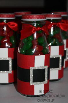 Santa Suit Bottles