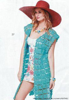 Crochetemoda Blog: Colete de Crochet