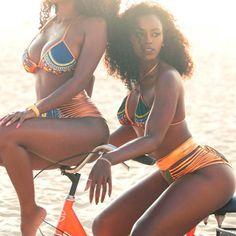 South African Golden Halter Bikini Set