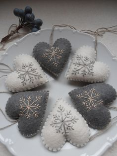 Szívek,Karácsonyi dekoráció...6 darab, Dekoráció, Otthon, lakberendezés, Karácsonyi, adventi apróságok, Karácsonyi dekoráció, Meska