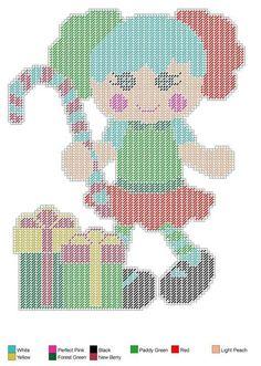 Doll set 4 Plastic Canvas Tissue Boxes, Plastic Canvas Crafts, Plastic Canvas Patterns, Christmas Wall Hangings, Christmas Decorations, Plastic Canvas Christmas, Canvas Designs, Sewing Dolls, Canvas Paper