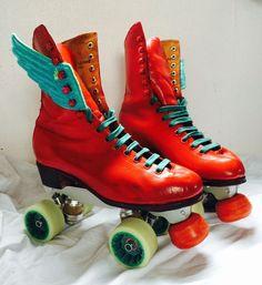 Stunning Custom Roller skates Rolline Variant Plate, vintage boot Size 6 in Sporting Goods, Inline & Roller Skating, Roller Skating   eBay