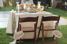 Rustic Shabby Chic Vintage Chairs Garden Outdoor Reception Wedding Reception Photos & Pictures - WeddingWire.com