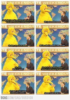 SNL: Big Bird on Twitter | #YahooScreen #YahooSNL #SNL
