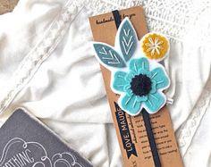 VERANO venta único marcador - regalo día de la madre - maestra - flor marcador - libro amante regalo - regalo de Bookworm - lector regalo
