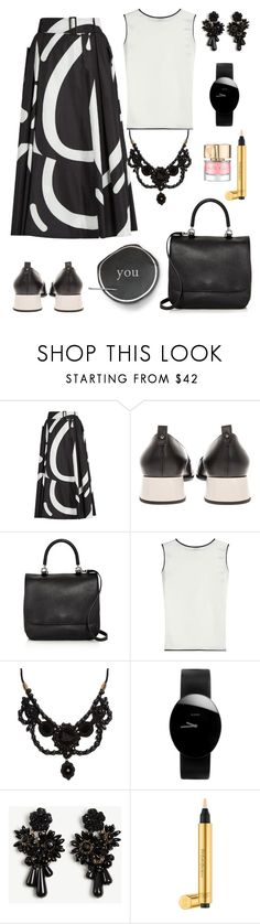 """""""I'm more than fine."""" by schenonek ❤ liked on Polyvore featuring MaxMara, Gucci, Rado, Ann Taylor, Yves Saint Laurent and Smith & Cult"""