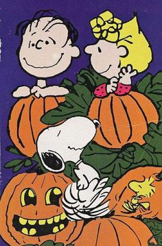 Linus, Sally, Snoopy, and Woodstock - The Great Pumpkin Charlie Brown
