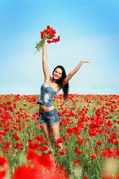 Girl in poppies field by Olena Zaskochenko - 500px