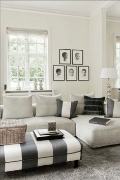 stripes, gray & white, neutral space