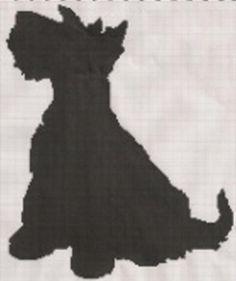 Sitting Dog Silhouettesitting Scottie Dog By Smileysstuff Crocheting Pattern Uovahaxr