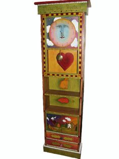 Whimsical Grandfather Clock Custom Order by woodwithheart on Etsy