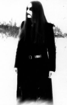 Black Metal Corpse Paint. I don't know who this is but it's a great image.