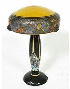 Art Deco lamp by André Delatte born in Châtenois (Vosges, France) in 1887.