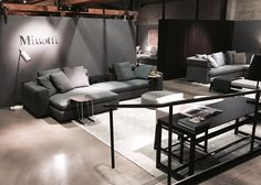 Stop by for an espresso and peek at our freshly updated San Francisco showrooms—here's a look at our Minotti section: