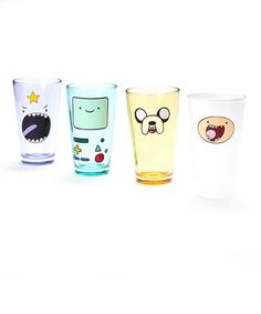 Another great find on #zulily! Adventure Time Cast Face Glass Set by Adventure Time #zulilyfinds