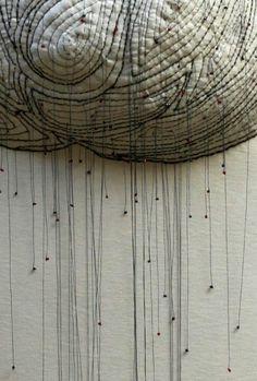 Textile art by paula diringer Textile Texture, Textile Fiber Art, Textile Artists, Motifs Textiles, Textiles Techniques, Soft Sculpture, Wall Sculptures, Fabric Manipulation, Fabric Art