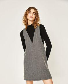 Image 2 of HERRINGBONE DRESS from Zara